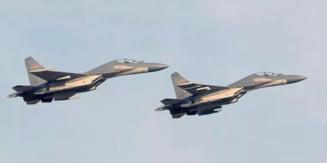 Demonstratie de forta a regimului de la Beijing: 28 de avioane de lupta au zburat spre Taiwan VIDEO