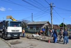 Deruta totala a constructorilor la lucrarile de canalizare din Campina