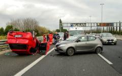 Detalii despre accidentul din Italia: erau 8 romani in masina, iar soferul conducea de 30 de ore