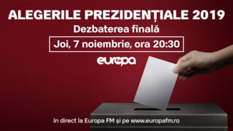 Dezbaterea Europa FM: Trei candidati au acceptat un exercitiu democratic care arata respect fata de alegatori (Video)