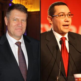 Dezbaterea televizata, luata la bascalie de Ponta si Iohannis (Opinii)