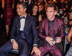 Dialog spectaculos intre Ronaldo si Messi: Cum au fost surprinsi cei doi (Video)