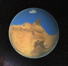 Din istoria surprinzatoare a planetei Marte: Mega-tsunami dupa impactul cu meteoriti