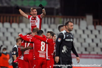"""Dinamo, calificare fara emotii in semifinalele Cupei Romaniei. Aproape de retrogradare in Liga 1, """"cainii rosii"""" poti prinde totusi cupele europene"""