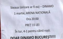 Dinamo isi ironizeaza marea rivala: Bilete pentru meciul cu Steaua (oricare ar fi ea)