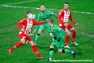 Dinamovistii suparati dupa derbyul pierdut cu FCSB: Puteam sa marcam. Egalul era un rezultat echitabil
