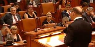 Discursul lui Traian Basescu i-a adormit pe parlamentarii Puterii (Galerie Foto)