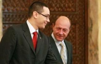 Discutie intre Ponta si Basescu despre absenta lui Antonescu de la Cotroceni