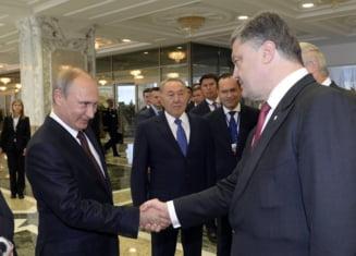 "Discutii ""foarte dure"" intre Putin si Porosenko la Minsk: Ce si-au spus intre patru ochi"