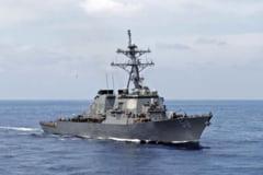 Distrugator SUA cu focoase nucleare intra in Marea Neagra, sprijinind aliatii NATO. Rusia este cu ochii pe el