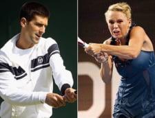 Djokovici si frumoasa Wozniacki au facut show inainte de Wimbledon (Video)