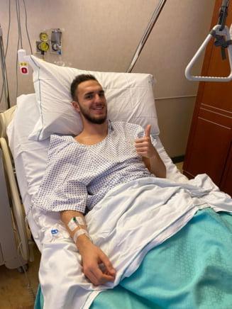 Doctorii i-au descoperit un chist capitanului lui Hagi. Fotbalistul a fost operat imediat