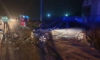 Doi adulti si un copil, raniti in urma unui accident rutier la Moara