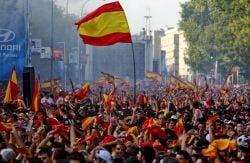 Doi morti si 100 de raniti in Spania, dupa castigarea Cupei Mondiale