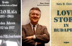 """Doi oameni de cultura din Viena la lansarea volumului """"Banat Gedichte"""""""