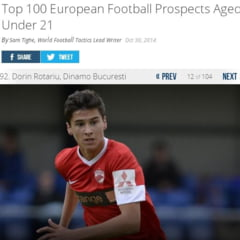 Doi romani, in topul celor mai promitatori tineri fotbalisti din Europa