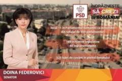 """Doina Federovici:""""Prioritatea PSD pentru Botosani este finalizarea modernizarii infrastructurii rutiere inceputa in guvernarea lui Victor Ponta"""""""