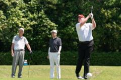 Donald Trump s-a intors duminica la clubul sau de golf din Virginia, unde se afla si cand presa a anuntat ca a pierdut alegerile