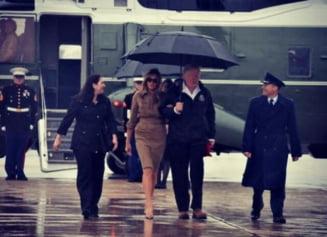 Donald si Melania Trump au donat 1 milion de dolari dupa uraganul Harvey, anunta Casa Alba
