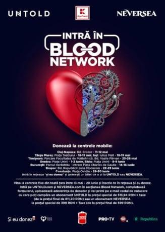 Doneaza sange si mergi la doua dintre cele mai tari festivaluri de muzica din Europa, UNTOLD si NEVERSEA