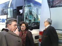 Doua autocare cu invitati ai Regelui Mihai s-au ciocnit in Capitala