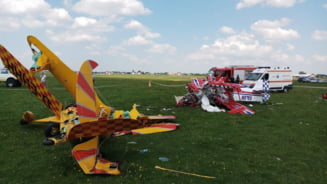Doua avioane de mici dimensiuni s-au ciocnit in aer, la Fratautii Vechi. Update Un pilot a murit