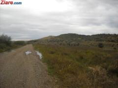 Doua tone de lesuri de animale, abandonate pe marginea drumului intr-o comuna din Mures
