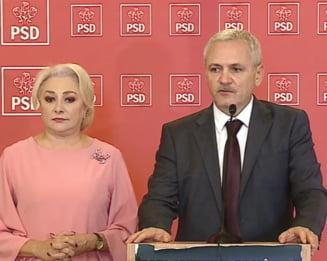 Dragnea a iesit cu Dancila de la sedinta BP a PSD, dar n-a lasat-o sa vorbeasca: Am decis sa transmitem un mesaj de sustinere pentru Jandarmerie