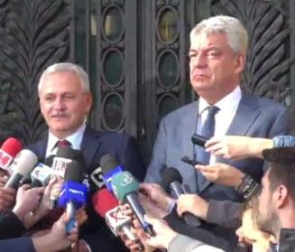 Dragnea si Tudose, dupa doua ore de sedinta la PSD: A fost o discutie buna, deciziile se iau joi, in Comitetul Executiv