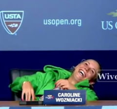 Drama lui Nadal, ironizata de Wozniacki (Video)