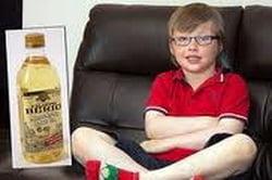 Drama unui copil: bea un litru de ulei pe saptamana, altfel creierul ii moare