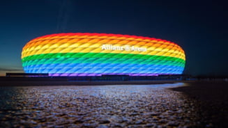 Drapelul curcubeu va fi arborat la sediile Parlamentului European, ca raspuns la decizia UEFA de a nu permite iluminarea Allianz Arena