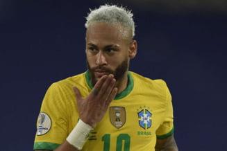 Dribling fabulos reusit de Neymar in meciul Brazilia - Peru VIDEO
