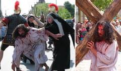 Drumul Crucii parcurs la Timisoara