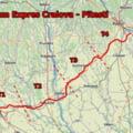 Drumul Expres DX12 Craiova - Pitesti. Primul strat de asfalt a fost asternut deja pe unele portiuni VIDEO