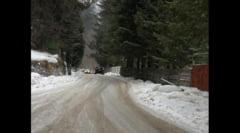 Drumul spre Cota 1400 din Sinaia a fost inchis circulatiei publice