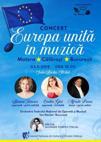"""Duminica, 3 noiembrie, concert al Teatrului National de Opereta """"Ion Dacian"""""""