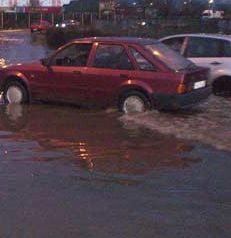 Dunarea a inundat punctul de trecere a frontierei Bechet
