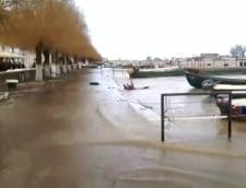 Dunarea s-a revarsat la Sulina. Apa a ajuns si intr-un cartier de locuinte (Video)