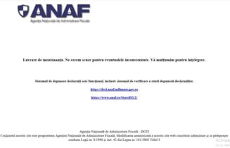 Dupa ce a obtinut aproape 100 de milioane de dolari de la Banca Mondiala pentru a reforma sistemul IT, ANAF are site-ul nefunctional