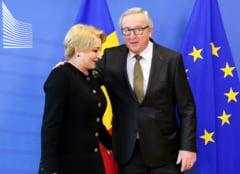 Dupa doua avertismente venite intr-o saptamana de la Bruxelles, Dancila se intalneste azi cu seful Comisiei Europene