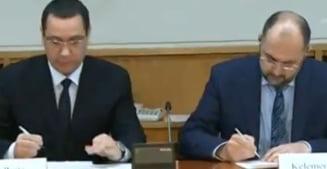 E oficial: UDMR si USD au semnat protocolul de guvernare