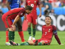EURO 2016: Ronaldo s-a accidentat si a parasit in lacrimi marea finala cu Franta