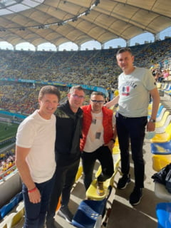 """EURO 2020: """" Pentru mine este o bucurie."""" Unde a stat Gica Popescu pe Arena Nationala la meciul Ucraina - Austria"""