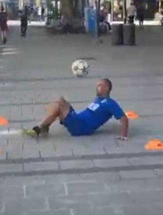 EURO 2020: Un suporter italian, acrobatii uluitoare cu mingea de fotbal pe strazile din Munchen. Nemtii l-au adoptat imediat VIDEO FABULOS