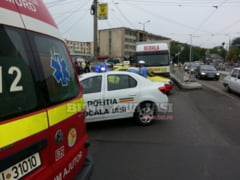 EXCLUSIV! Accident rutier pe Nicolae Iorga- FOTO,VIDEO