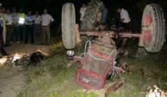 EXCLUSIV! Tractorist decedat dupa ce s-a rasturnat utilajul peste el