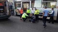 EXCLUSIV (VIDEO-FOTO): O femeie a fost lovita de un tramvai in zona Belvedere