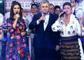Ecaterina Andronescu, Florin Iordache si Serban Nicolae canta, chiuie si danseaza de Revelion la Romania TV (Video)