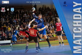 Echipa de handbal masculin CSM I Focsani 2007 castiga in deplasare meciul cu ACS HC Buzau 2012